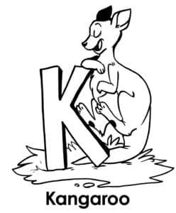 Кенгуру буква К алфавита
