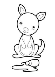 маленький кенгуру и бутылочка