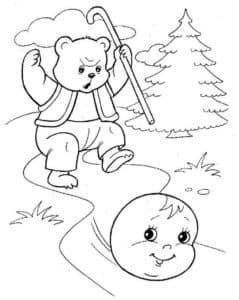 колобок убежал от медведя