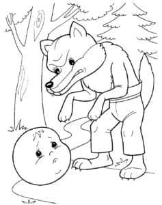 волк и колобок
