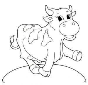 корова на пеньке