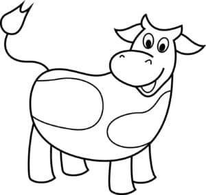 детская раскраска корова