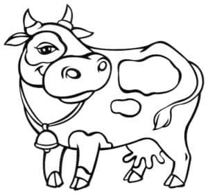 раскраска для детей корова