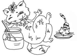 кошка с банкой молока