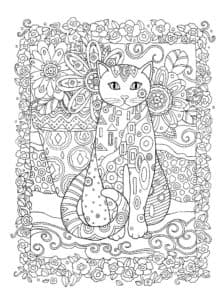 кот в узорах