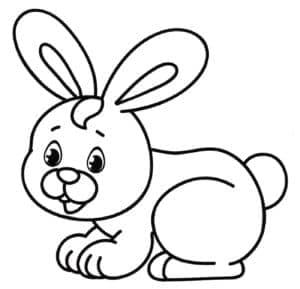 маленький крольчонок рисунок