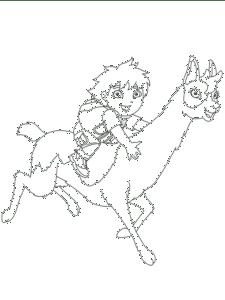 мальчик на ламе