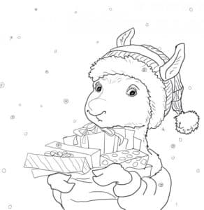маленькая лама с подарками