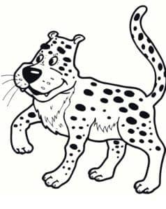 леопард из мультфильма