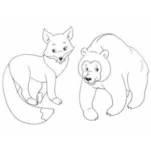 лисичка и медвежонок