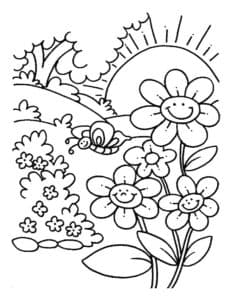 цветочки и бабочки