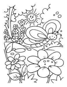 бабочка летом