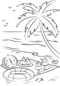 пальма море и коктейли