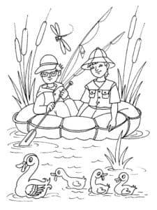 рыбаки и утки