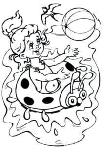 девочка с надувным кругом