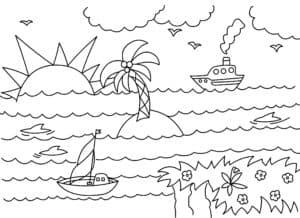 кораблики и пальма