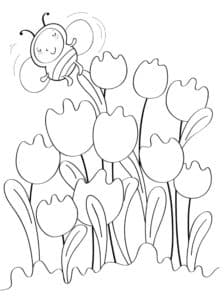 тюльпаны с пчелкой