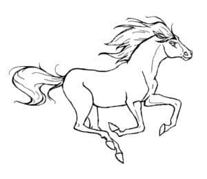 лошадь на скаку