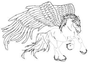 лошадь с большими крыльями