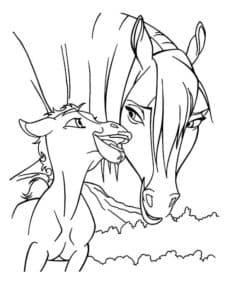 лошадка и ребенок