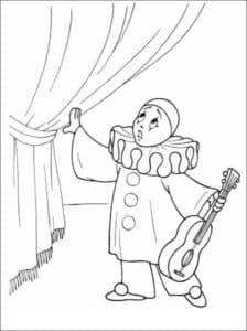 пьеро со скрипкой