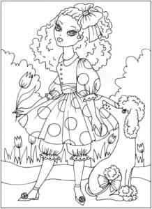 мальвина с артемоном раскраска