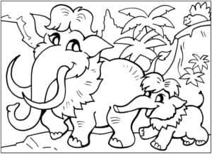 мамонт и мамонтенок