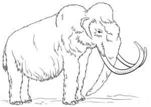 мамонт с большими рогами