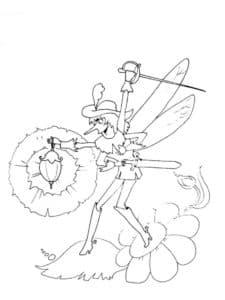 муха с фонарем