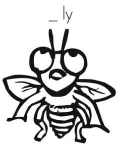 смешная маленькая муха