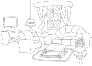 Детская раскраска комната