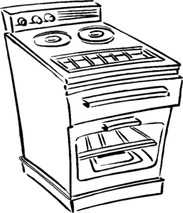 печка раскраска