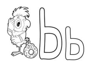 Раскраска мягкий знак с попугаем