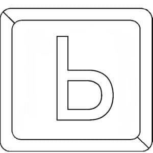 мягкий знак в квадратике