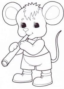мышонок с флейтой