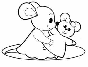 девочка мышка с игрушкой