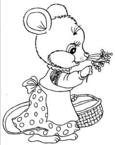мышка с лукошком
