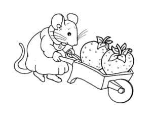 мышка и клубника