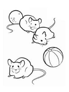мыши и мячи
