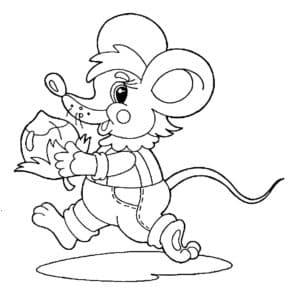 мышь с орешком