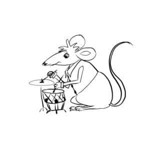 мышка и барабан