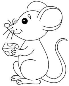 мышка кушает сыр