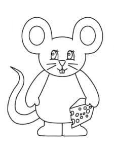 большая мышь с сыром