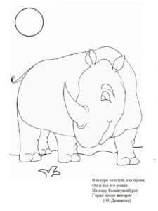 Носорог и цветочек