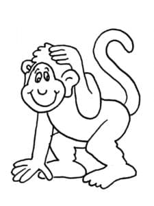 раскраска детская обезьянка