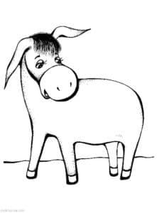 толстый ослик