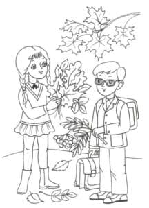 школьники осенью