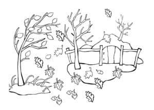 листья падают осенью