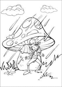 кузнечик под мухомором