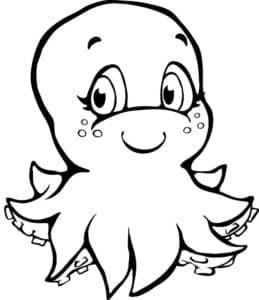 ребенок осьминог
